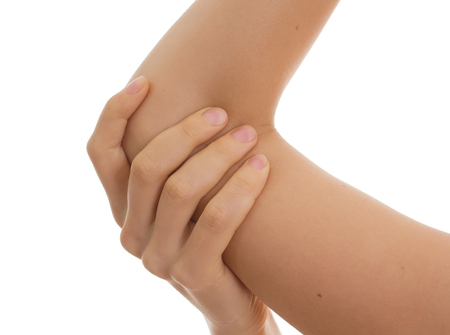 tortured body: Pain in elbow Medical concept