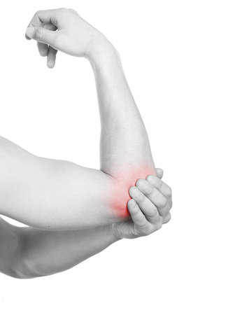 elbow pain: Pain Medical concept
