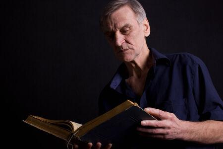 one senior man only: Booker Philosopher Stock Photo