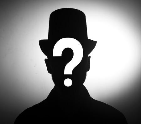 male silhouette Unknown person concept photo