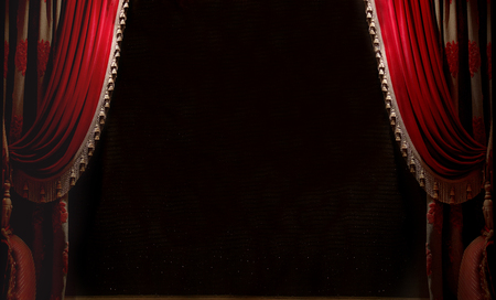 Curtain with space for copy