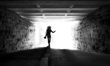 light at the end of the tunnel: Light at the end of tunnel Low grain added for create atmosphere