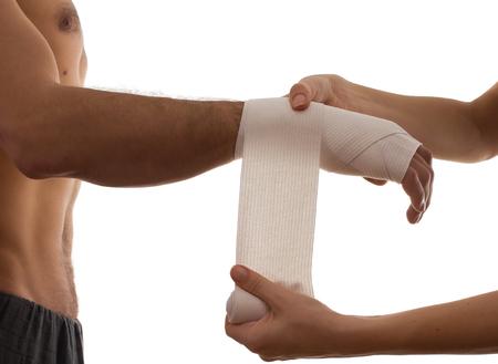 dolor de pecho: Concepto de dolor aislado en blanco