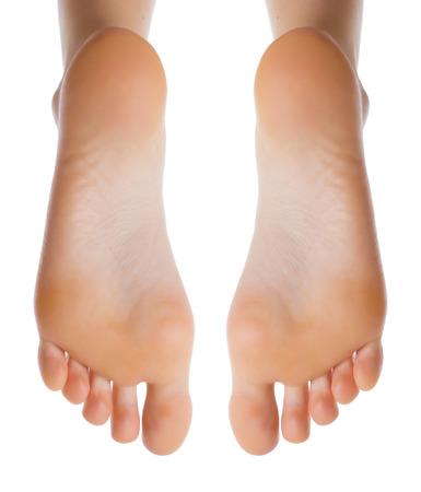 bare feet girl: Female leg