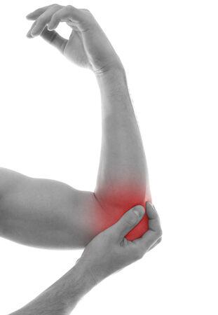 masaje deportivo: Lesión Foto de archivo