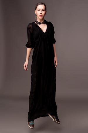 long shot: Young beautiful girl   more outfits in photo set