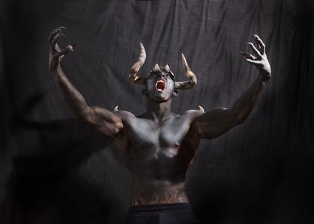 bocinas: Demonio Foto de archivo