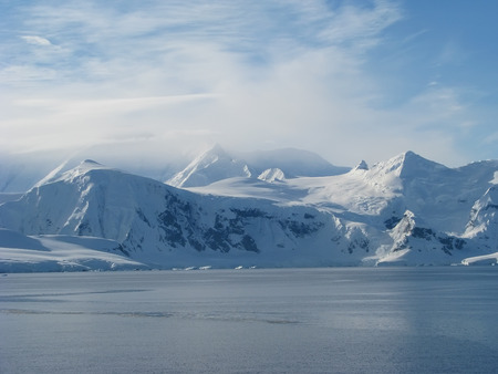 Antarctica landscape Winter on frozen day