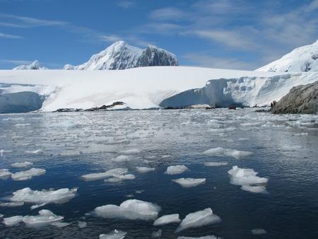 Antarctica landscape  Winter on frozen day photo