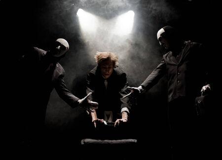 human representation: Dramatic theater Stock Photo