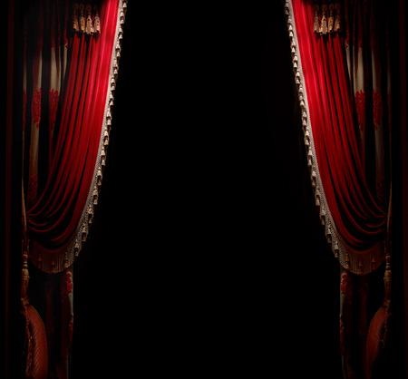 rot: Vorhang mit Platz für die Kopie