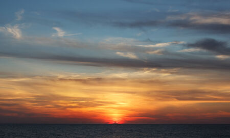 sky after sunset photo