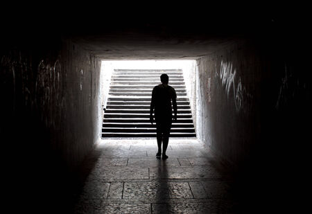 light at the end of the tunnel: Light at the end of tunnel Stock Photo