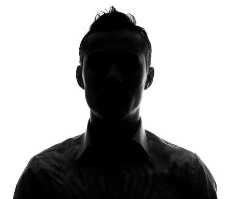 Unknown male person silhouette Stockfoto