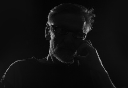 onbekende persoon silhouet
