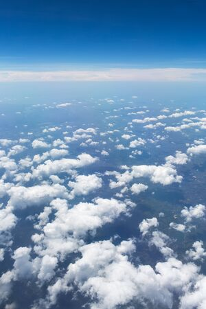 viewport: Clouds in blue sky.Earth of Thailand