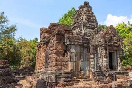 mysticism: abandoned temple in Angkor Wat, Cambodia