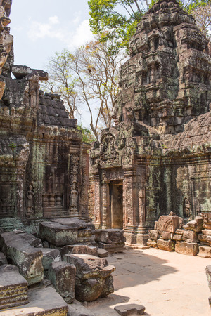 religious building: abandoned temple in Angkor Wat, Cambodia