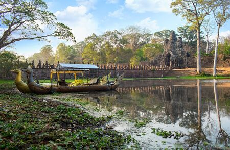 khmer: abandoned temple in Angkor Wat, Cambodia