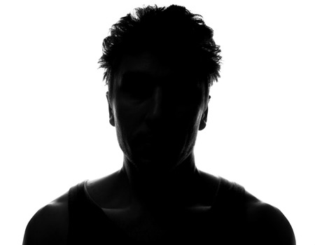 unknown men: Hidden face in the shadow.male silhouette.