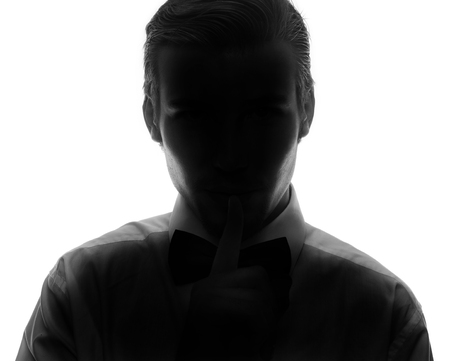 unnamed: Hidden face in the shadow.male person silhouette