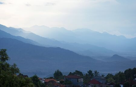gradual: Layers of mountain ,Bali island,Indonesia