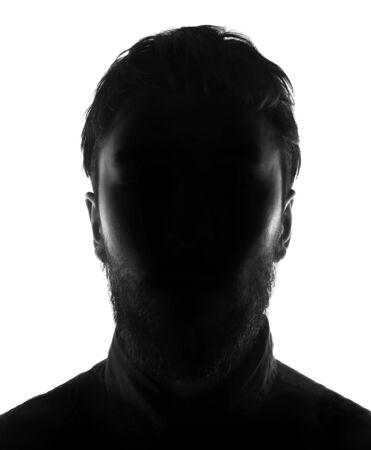 silueta hombre: cara oculta en la persona de la silueta shadow.male Foto de archivo