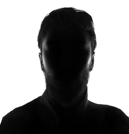 incognito: Hidden face in the shadow.male person silhouette