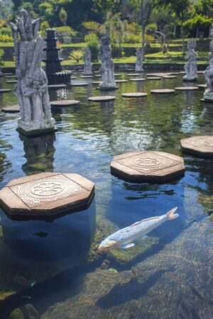 cravings: Water Palace of Tirta Ganggain East Bali, Indonesia Stock Photo
