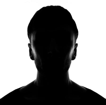volto nascosto nella persona silhouette shadow.male