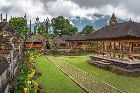 danu: Pura Ulun Danu Bratan, Hindu temple on Bratan lake, Bali, Indonesia