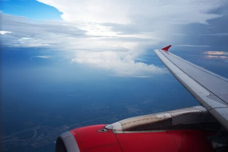 viewport: view from the airplane window