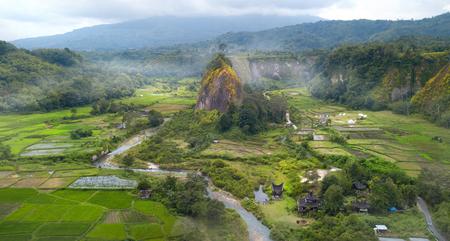 Blick auf Ngarai Sianok Canyon, West-Sumatra, Indonesien