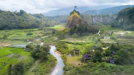 インドネシア西スマトラ・ンガライ・シアノク渓谷の眺め