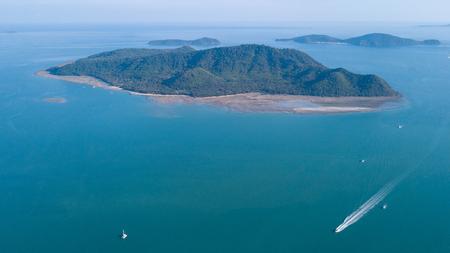 Ko Lon island Aerial view,Thailand