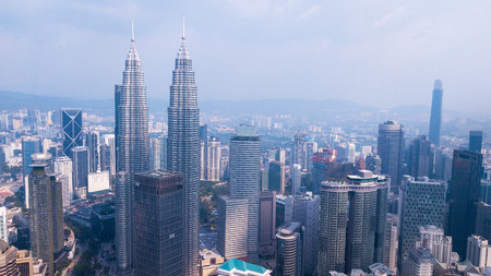 Kuala-Lumpur,Malaysia,04 March,2019: View on the Petronas Twin Towers