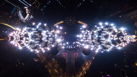 Kuala-Lumpur, Malaysia - March 04, 2019: Aerial view of Petrosans KLCC Twin Towers