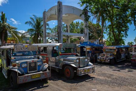 jeepney at bus station near Daraga city,Philippines