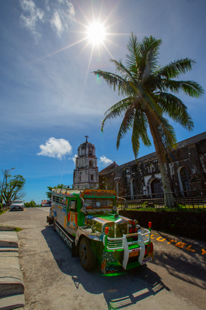 araga Church , view on  Roman Catholic Church in the municipality of Daraga, Albay Editorial