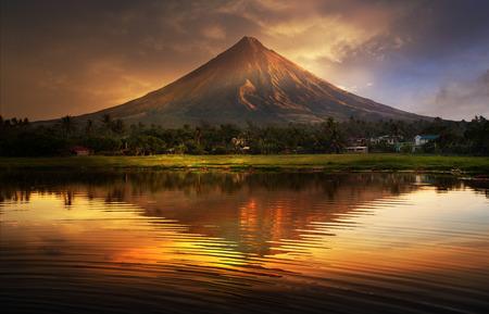 Mayon Volcano,Philippines 免版税图像