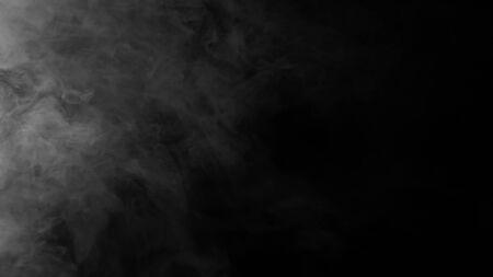 Fog mist haze smoke on black background