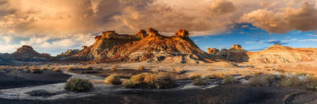 Fantastic formes and shapes of Bisi Badlands, New Mexico photo