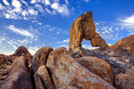 mojave: Landscape of the Alabama Hills Eastern Sierra Nevada Mountains with Boot arch  Near Lone Pine California USA