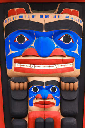 pacific northwest: Totem pole by North American Native indians