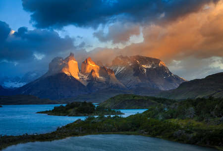Epic beauty of the landscape - the National Park Torres del Paine in southern Chile.