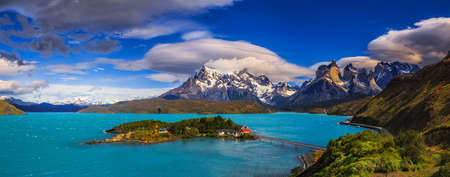 torres del paine: Breathtaking Views Await You at the End of the World at Chilean Patagonia Stock Photo