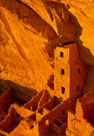 The cliff dwellings of Mesa Verde are some of the most notable and best preserved in the North American Continent. Mesa Verde National park, Colorado, USA