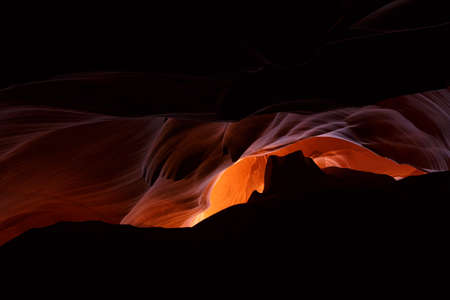Famous Antelope Canyons over the rules of Navajo tribe , Arizona, USA