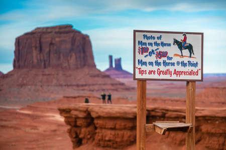 Horseman in Monument Valley, Navajo Land, Utah
