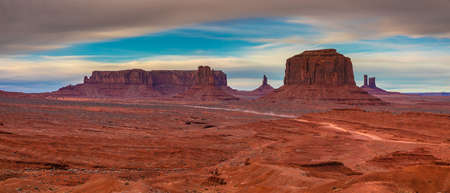 Clouds over Monument Valley, Navajo Land, Utah Фото со стока
